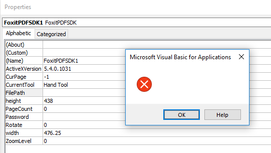 Failing to set the FilePath property, thanks Microsoft, very informative!